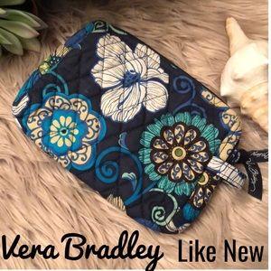 Vera Bradley Makeup Bag-7x5-Blues/Beige-Like New